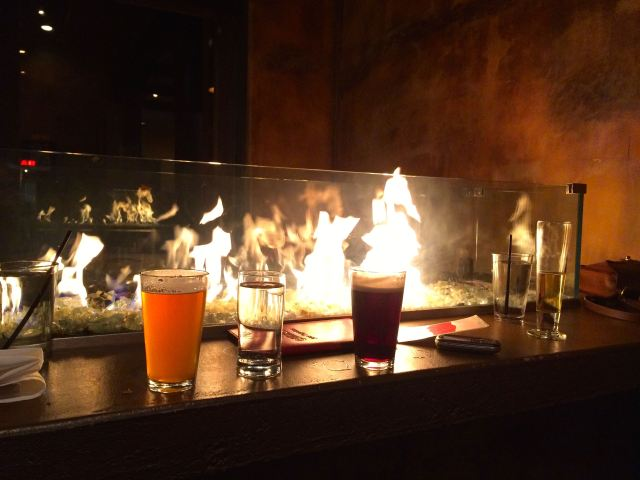 Beers at the Fireplace