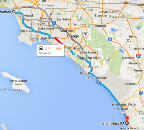 Venice to Encinitas