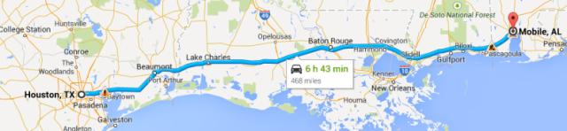 Houston to Mobile