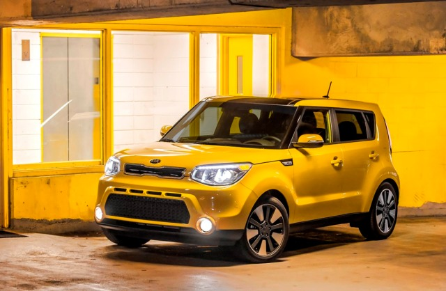 Just Like Our Taxi Yellow Kia Soul