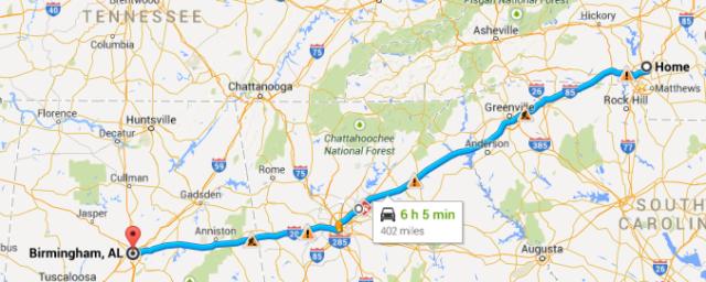 Charlotte to Birmingham