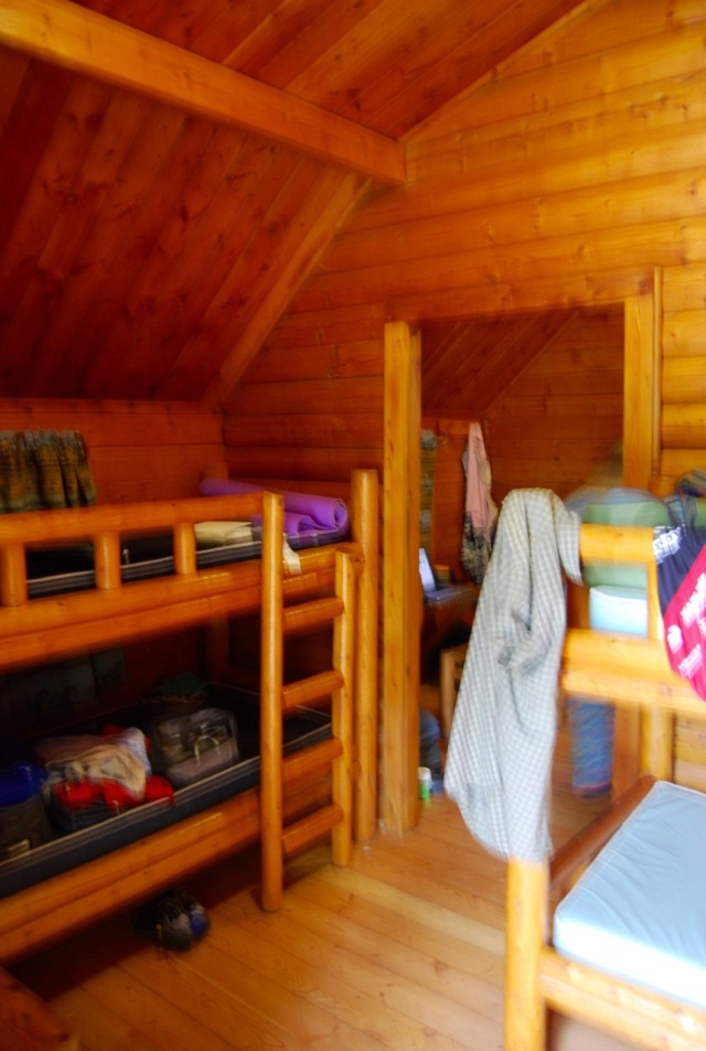 Inside our two room Kabin