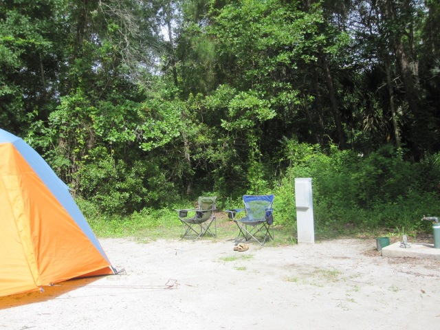 Campsite at James Island