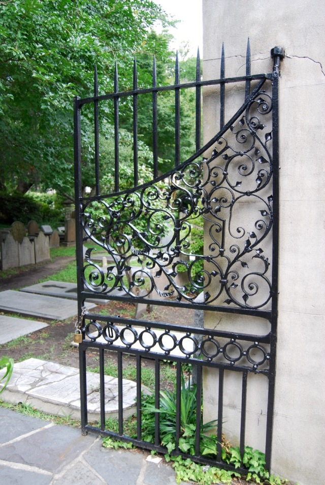 Gates at St. Philip's cemetary said to be the oldest in the city