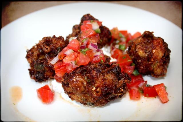 Okra and Shrimp Beignets