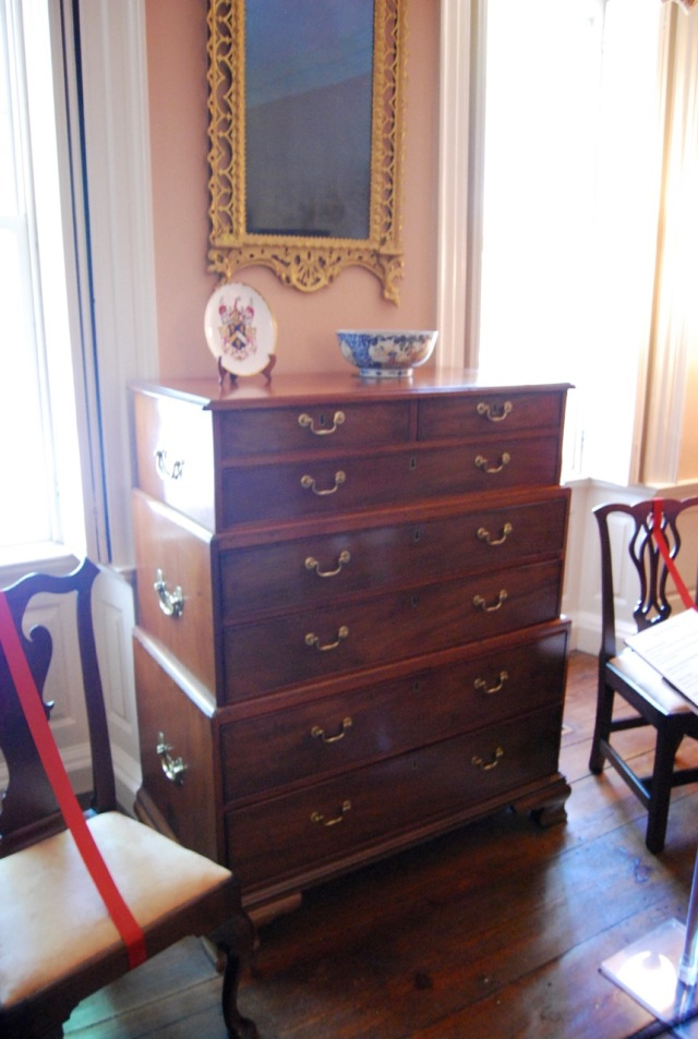 Three piece chest insde the Heyward House