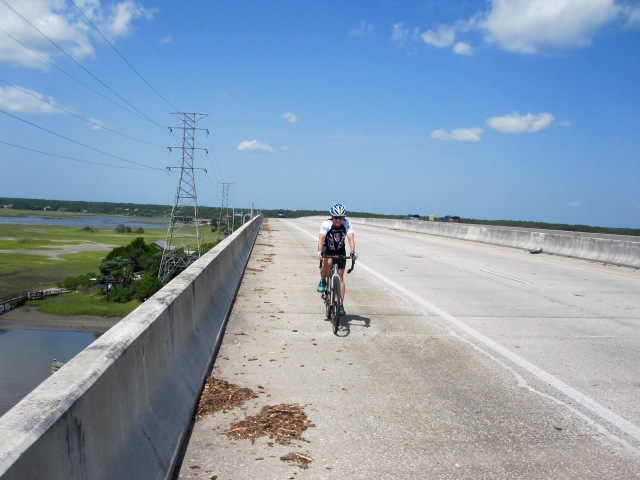 Crossing the Bridge to Folly Beach