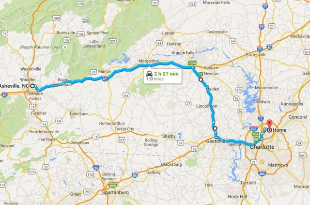 Asheville to Home