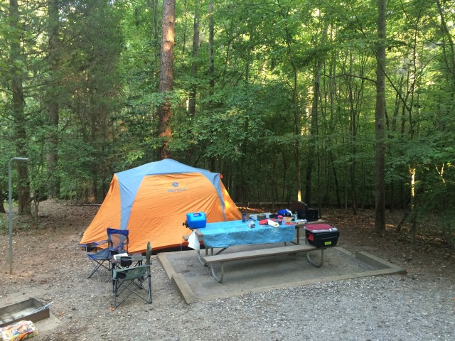 Campsite at Lake Norman