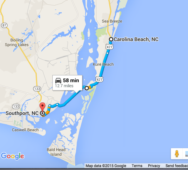 Carolina Beach to Southport