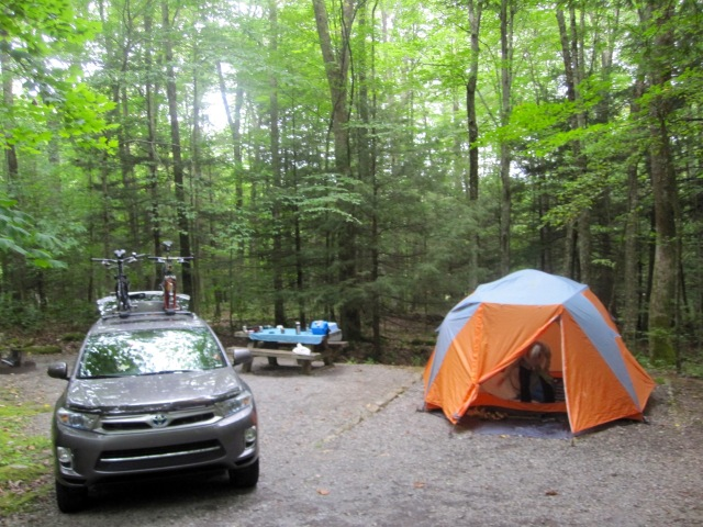 Campsite at Grindstone