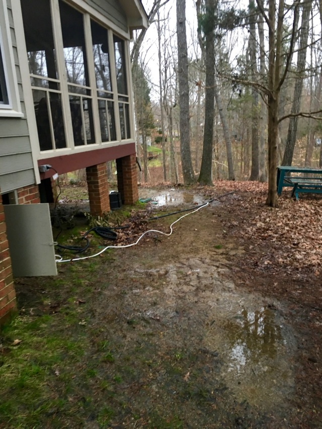 Water Flowing From the Crawl Space
