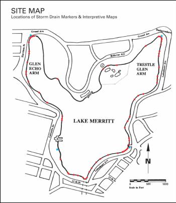 Lake Merritt Site Map