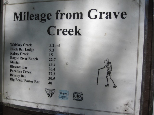 Mileage from Grave Creek