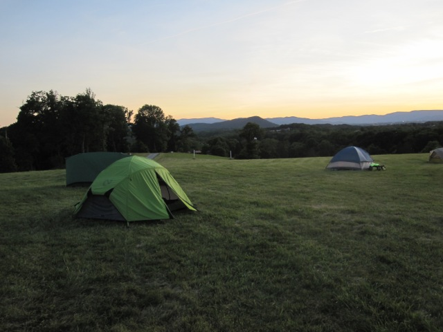 Sunset in Camp