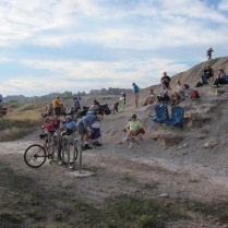 Cliffside Crowds on the Left
