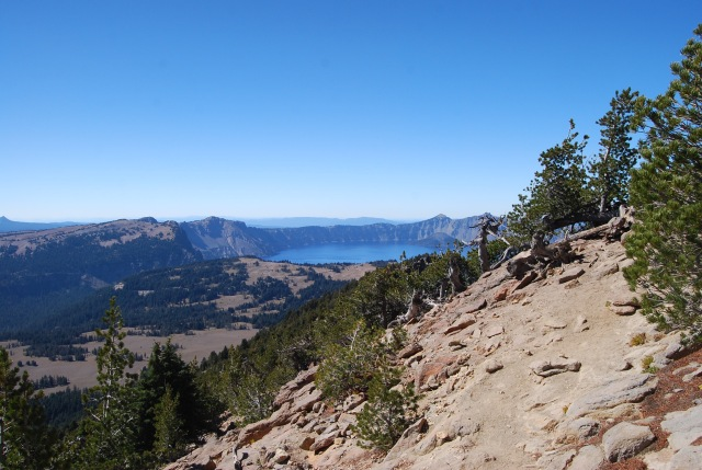 Crater Lake in the Distance