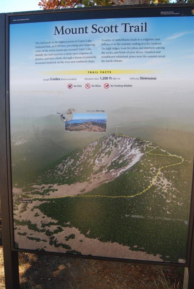 Mt Scott Trail Sign