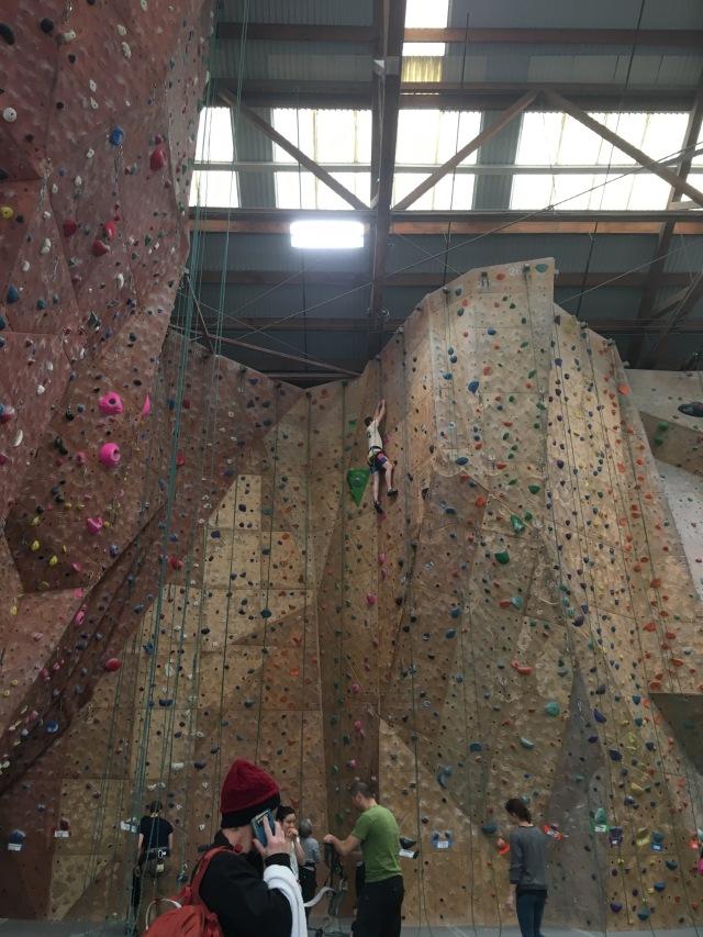 Climbing at Mission Cliffs
