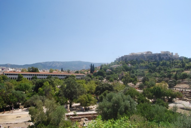 Agora Grounds with Acropolis in the Distance