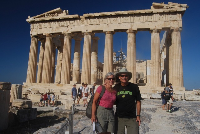 J and J at the Parthenon
