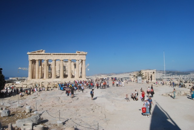 Parthenon from Greek Flag