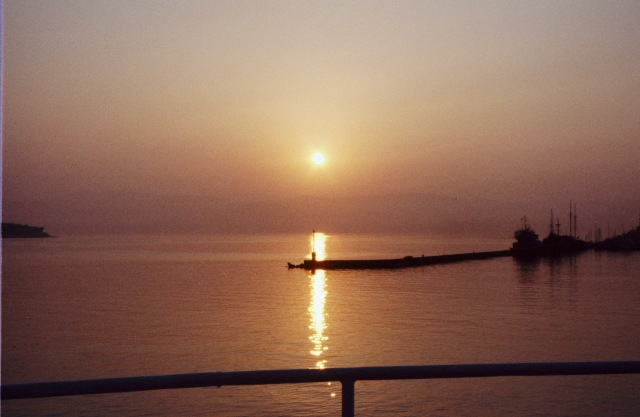 Sunrise Corfu Harbor