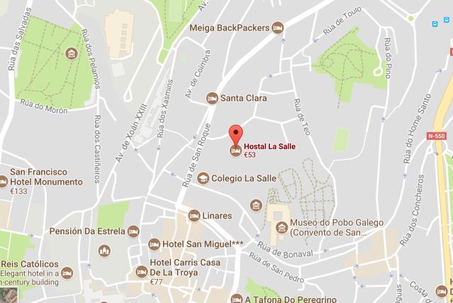 Hostal La Salle Map