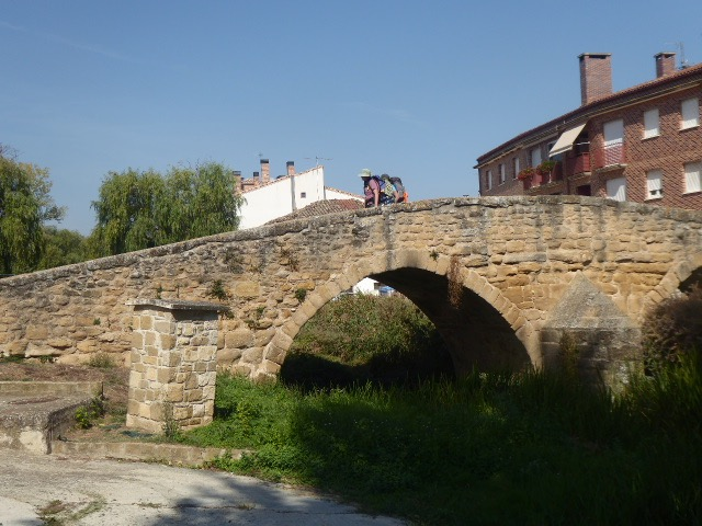 A Bridge in Viana, Elliot and Sally Walking Across