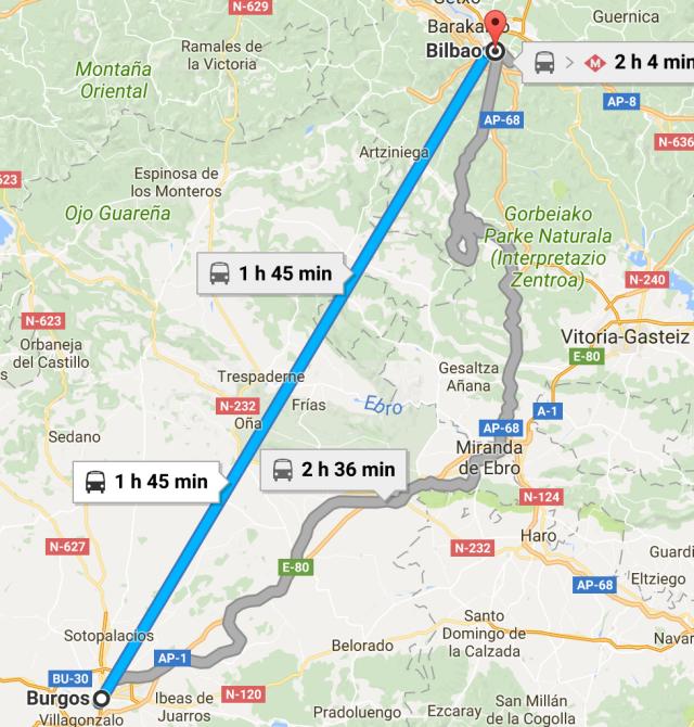 Burgos to Bilbao