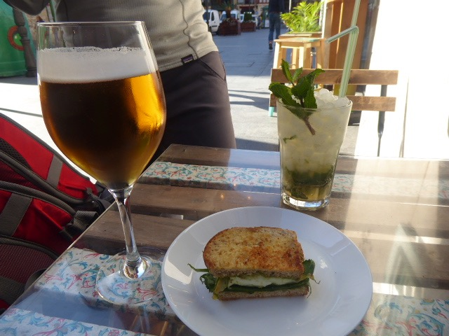 Tapa, beer and Mojito