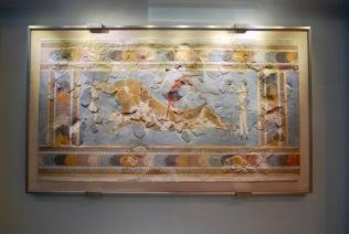 Orginal Bull Leaping Fresco