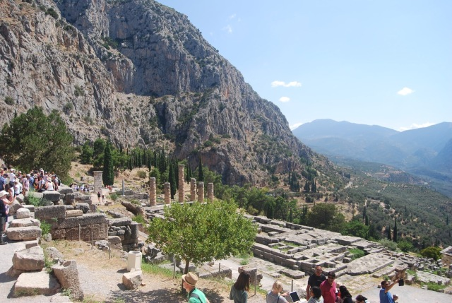 Looking Down at the Temple of Apollo