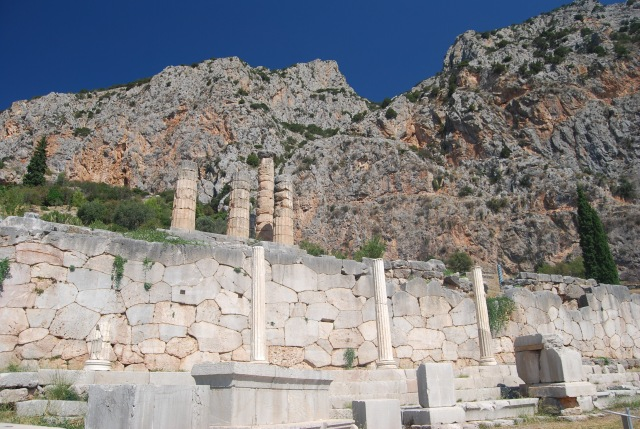 Looking Up at the Temple of Apollo