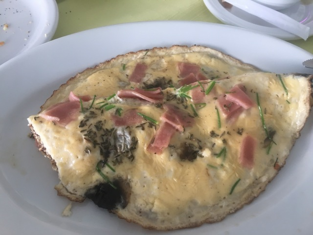 Omelet with Ham and Herbs