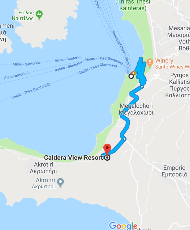 Harbor to Caldera View
