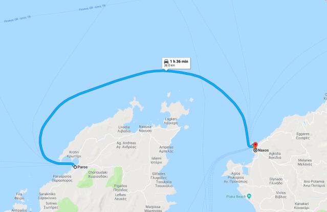Naxos to Paros