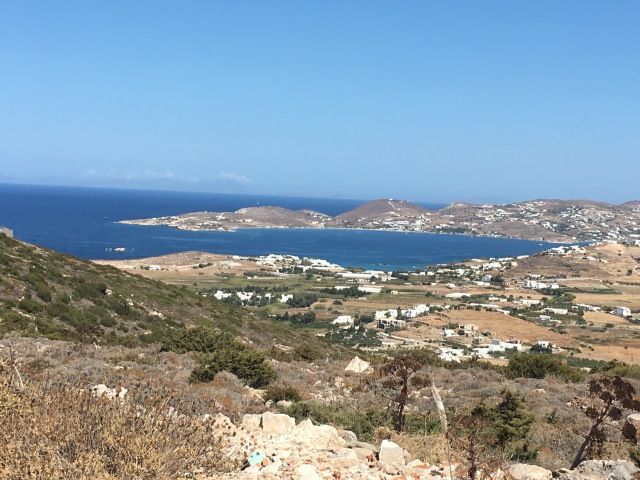 View towards Paros Town