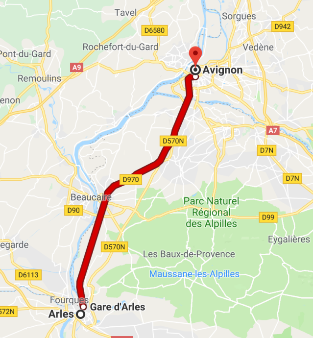 Arles to Avignon