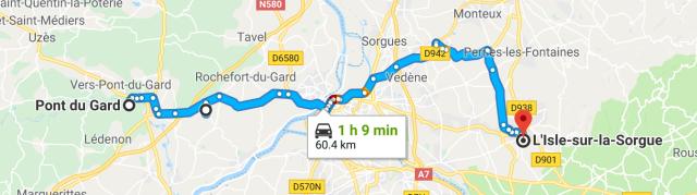 Pont du Gard to I'sle sur la Sorgue