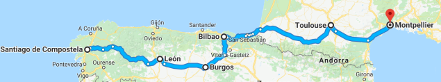 Santiago to Montpellier