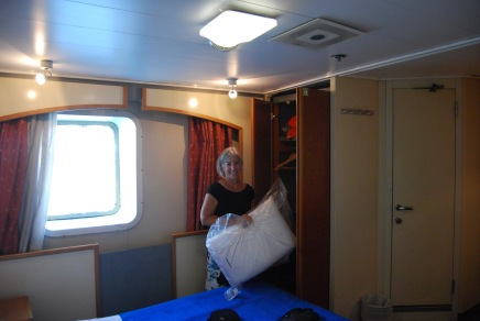Our Cabin on the Ferry to Crete
