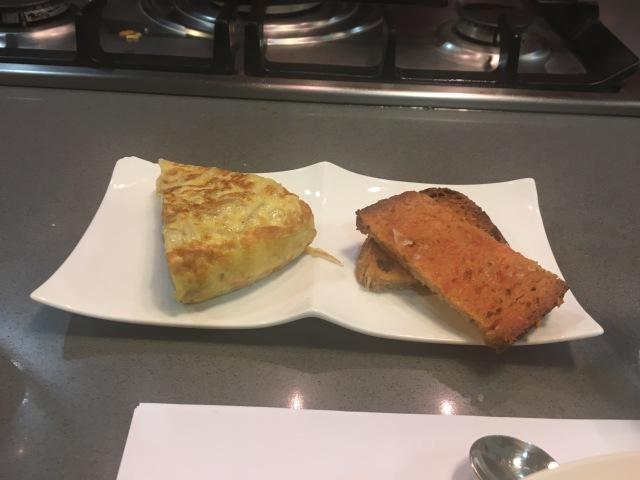 Portion of Tortilla and Pan