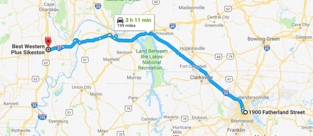 Nashville to Sikeston