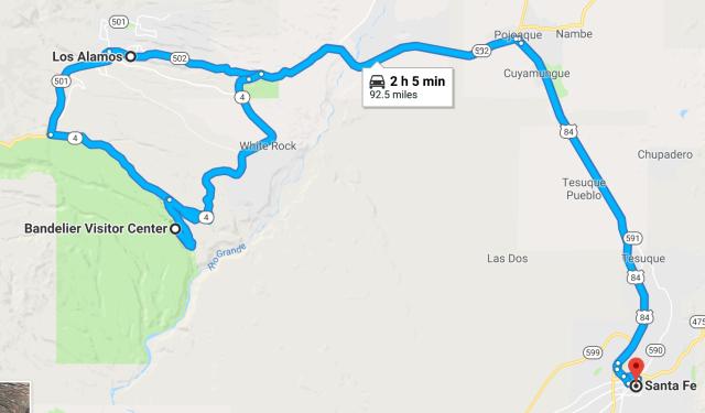 Santa Fe to Los Alamos