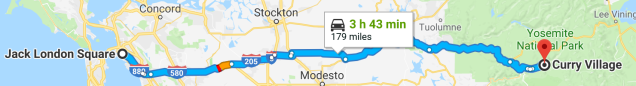 Oakland to Yosemite