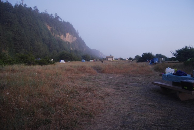 A Damp Morning in Camp