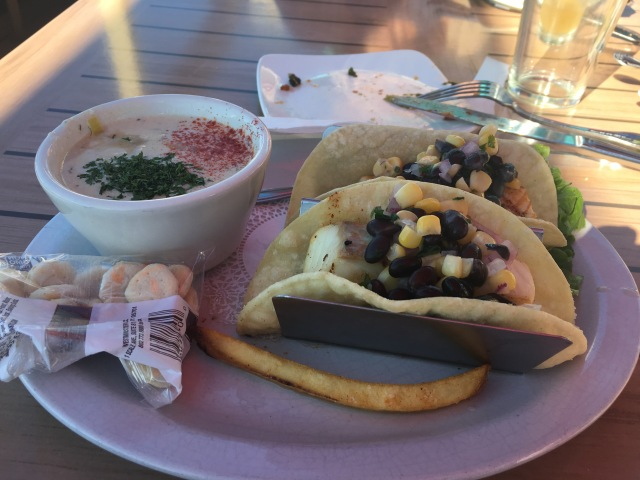 Halibut Fish Tacos and Chowder