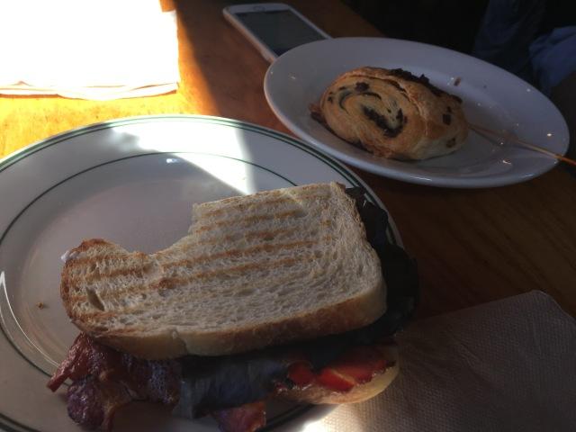 Sandwich and Croissant