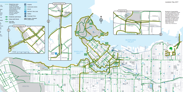 A Section of the Bike Map